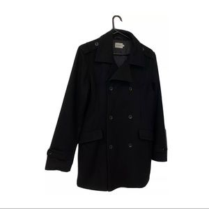 Mens Brooksfield double breasted wool blend coat L